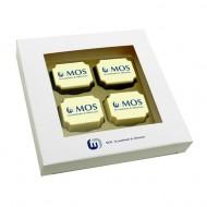 4 Logobonbons in geschenkdoos bezorgen in Zwolle