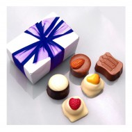 6 Bonbons in luxe bonbondoos bezorgen in Den-Haag