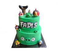 Angry Birds 3D taart (2 lagen) bezorgen in Amsterdam