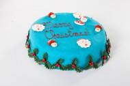 Blauwe Kersttaart bezorgen in Den-Haag