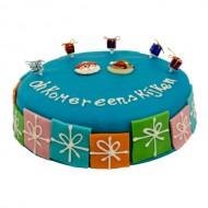 Blauwe Sint marsepein taart bezorgen in Breda