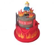 Brandweerman Sam 3D taart bezorgen in Leeuwarden