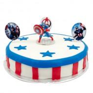 Captain America Marsepeintaart bezorgen in Amsterdam