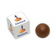 Chocolade golfbal in gepersonaliseerd doosje bezorgen in Rotterdam