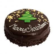 Chocolade Kersttaart bezorgen in Oterdum