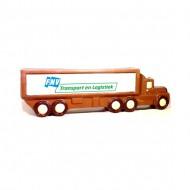 Chocolade vrachtwagen met logo bezorgen in Den-Haag