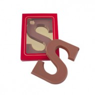 "Chocoladeletter ""S"" 200 gram bezorgen in Den Haag"