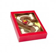 """Chocoladeletter """"S"""" met decoratie 200 gram bezorgen in Groningen"""