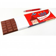 Chocoladereep in bedrukt doosje bezorgen in Den-Haag