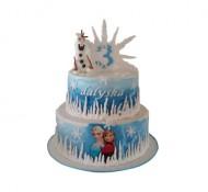 Frozen Olaf 3D taart bezorgen in Den-Haag