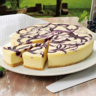 Gluten free blueberry swirl cheesecake bezorgen in Leiden