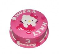 Hello Kitty roze 3D taart bezorgen in Leeuwarden