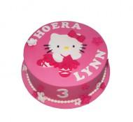 Hello Kitty roze 3D taart bezorgen in Den-Haag