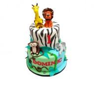 Jungle Dieren 3D taart bezorgen in Leeuwarden