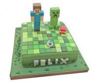 Minecrafttaart bezorgen in Den-Haag