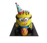 Minion jongen 3D taart bezorgen in Rotterdam