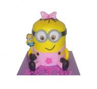 Minion meisje 3D taart bezorgen in Almere