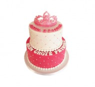 Prinses (2 lagen) 3D taart bezorgen in Leeuwarden
