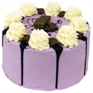 Purple Milka Crunch Layer Cake bezorgen in Leiden