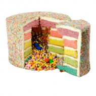 Rainbow Layer cake bezorgen in Loil