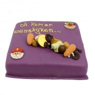 Sinterklaas marsepein taart paars bezorgen in Utrecht