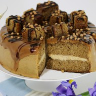 Sticky salted caramel cake bezorgen in Absdale