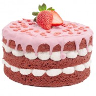 Strawberry Love Cake bezorgen in Bergen op Zoom