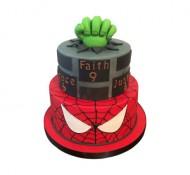 Superhelden 3D taart (2 lagen) bezorgen in Amsterdam