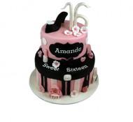 Sweet 16 (roze) 3D taart bezorgen in Groningen