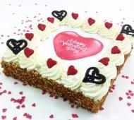 Valentijnslagroomtaart bezorgen in Amsterdam