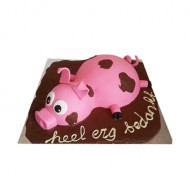 Varken in de modder 3D taart bezorgen in Amsterdam