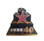 Walk of Fame 3D taart bezorgen in Amsterdam