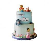 Winnie de poeh (blauw) 3D taart bezorgen in Leeuwarden