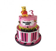 Winnie de poeh (roze) 3D taart bezorgen in Leeuwarden