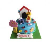 Woezel en Pip (blauw) 3D taart bezorgen in Den-Bosch