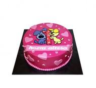 Woezel en Pip (roze) 3D taart bezorgen in Den-Haag
